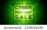 cyber monday sale on digital... | Shutterstock .eps vector #1228226290