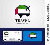 travel uae flag logo and...   Shutterstock .eps vector #1228235869