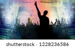silhouette of dancing people | Shutterstock . vector #1228236586