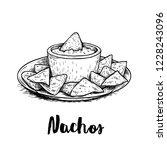 Hand Drawn Sketch Style Nachos...