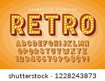 retro cinema font design ... | Shutterstock .eps vector #1228243873