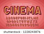 retro cinema font design ... | Shutterstock .eps vector #1228243876