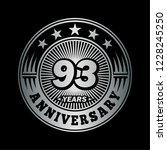 93 years anniversary.... | Shutterstock .eps vector #1228245250