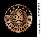 94 years anniversary.... | Shutterstock .eps vector #1228245253