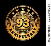 93 years anniversary.... | Shutterstock .eps vector #1228245259