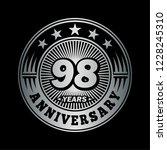 98 years anniversary.... | Shutterstock .eps vector #1228245310