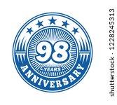 98 years anniversary.... | Shutterstock .eps vector #1228245313