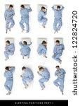 sleeping positions part one | Shutterstock . vector #122824720