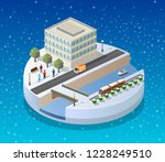 winter christmas landscape... | Shutterstock .eps vector #1228249510