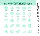 25 green network and... | Shutterstock .eps vector #1228250470