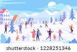 holiday in the winter town and... | Shutterstock .eps vector #1228251346