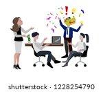 vector illustration. evil boss. ... | Shutterstock .eps vector #1228254790