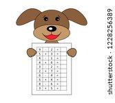 worksheet. mathematical puzzle...   Shutterstock .eps vector #1228256389