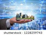 smart city in innovation concept | Shutterstock . vector #1228259743