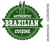 brazilian cuisine sign or stamp ... | Shutterstock .eps vector #1228260256