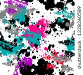 abstract seamless grunge neon... | Shutterstock .eps vector #1228260589