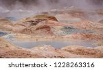 boiling mud pools at sol de... | Shutterstock . vector #1228263316