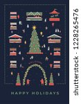 festive illustration with the... | Shutterstock .eps vector #1228265476