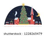 holiday card with image of... | Shutterstock .eps vector #1228265479