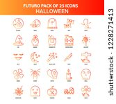 orange futuro 25 halloween icon ... | Shutterstock .eps vector #1228271413