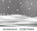 snowfalls  snowflakes in... | Shutterstock .eps vector #1228276666