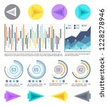 business pie diagrams and...   Shutterstock .eps vector #1228278946