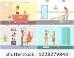 spa salon reception and visage... | Shutterstock .eps vector #1228279843