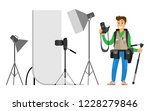 photographers taking picture... | Shutterstock .eps vector #1228279846