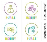 purses with money icons... | Shutterstock .eps vector #1228280659