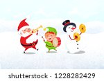 christmas characters with... | Shutterstock .eps vector #1228282429
