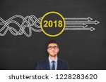 solution concepts new year 2018 | Shutterstock . vector #1228283620
