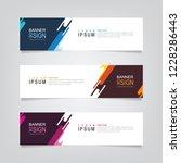 vector abstract banner design... | Shutterstock .eps vector #1228286443