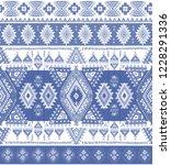 indian rug tribal ornament... | Shutterstock .eps vector #1228291336