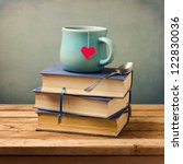 Old Vintage Books And Cup With...