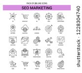 seo marketing line icon set  ... | Shutterstock .eps vector #1228304740