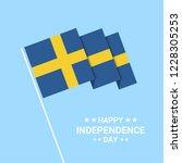 sweden independence day... | Shutterstock .eps vector #1228305253