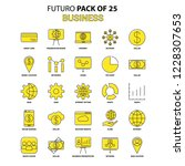 business icon set. yellow... | Shutterstock .eps vector #1228307653