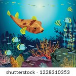 colorful coral reef with... | Shutterstock .eps vector #1228310353