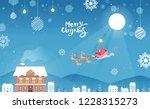 merry christmas landscape  ...   Shutterstock .eps vector #1228315273