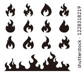 fire flames  set vector icons | Shutterstock .eps vector #1228318219