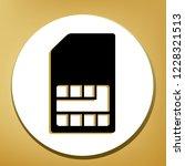sim card sign. vector. black... | Shutterstock .eps vector #1228321513