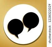 two speech bubble sign. vector. ... | Shutterstock .eps vector #1228322029