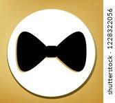 bow tie icon. vector. black... | Shutterstock .eps vector #1228322056