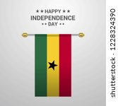 ghana independence day hanging... | Shutterstock .eps vector #1228324390