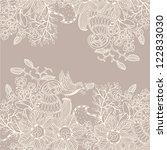 vector floral background | Shutterstock .eps vector #122833030