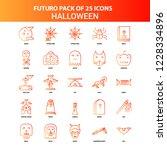 orange futuro 25 halloween icon ... | Shutterstock .eps vector #1228334896