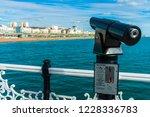 telescope or binoculars coin... | Shutterstock . vector #1228336783