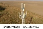 cellular tower. equipment for... | Shutterstock . vector #1228336969