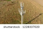 cellular tower. equipment for... | Shutterstock . vector #1228337020