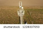 cellular tower. equipment for... | Shutterstock . vector #1228337053